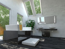 Beautiful Interior Design Bathroom Area Royalty Free Stock Images
