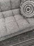 Beautiful interior design in gray tones Stock Photo