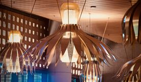 Unique and stylish interior ceiling lights  photo Stock Photography
