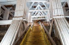 Beautiful interior of famous salt mine Stock Photo
