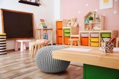 Beautiful interior of game room. In kindergarten Royalty Free Stock Images