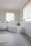 Beautiful interior of a modern bathroom Stock Images