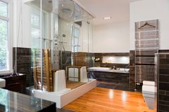 Beautiful interior of a modern bathroom Royalty Free Stock Image