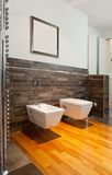Beautiful interior of a modern bathroom Royalty Free Stock Photography