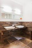 Beautiful interior of a modern bathroom Stock Photos