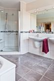Beautiful interior of a modern bathroom Stock Photos