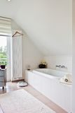Beautiful interior of a modern bathroom Stock Photo