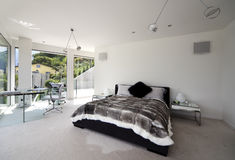 Beautiful interior of a modern house royalty free stock photo