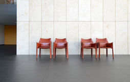 Beautiful interior with modern leather chair Stock Photography