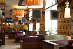 Beautiful interior of modern restaurant Royalty Free Stock Photo
