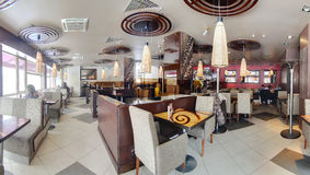 Beautiful interior of modern restaurant Royalty Free Stock Photography