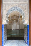 Beautiful interior of the Moorish Madrasah of Granada Stock Photos