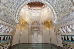 Beautiful interior of the Moorish Madrasah of Granada Stock Images
