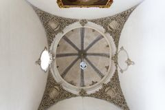 Beautiful interior of the Moorish Madrasah of Granada Royalty Free Stock Photo