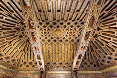 Beautiful interior of the Moorish Madrasah of Granada Stock Image