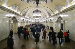 beautiful interior most subway στοκ φωτογραφία