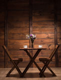 Beautiful interior represented with wooden things Stock Photography