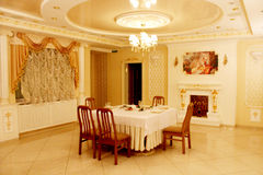 Beautiful interior in restaurant Banquet hall in Chernihiv stock photography