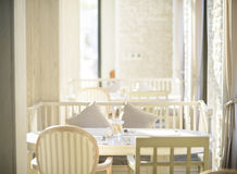 Beautiful interior of restaurant Royalty Free Stock Photo