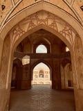 Beautiful interior shot of a large open palace in Kashan, Iran. A beautiful interior shot of a large open palace in Kashan, Iran stock images