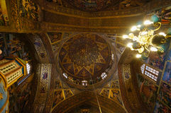 Beautiful interior in Vank Cathedral, Isfahan,Iran. Vank Cathedral or The Church of the Saintly Sisters was built in 1664 Stock Photos