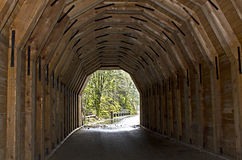 Beautiful Interior of Wooden Tunnel Royalty Free Stock Photos