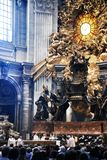 Beautiful internal of cathedral in Vatican Royalty Free Stock Images