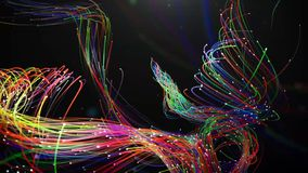 Beautiful interweaving of glowing threads in a spiral royalty free illustration