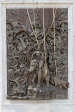 Beautiful and intricate Bas Relief sculpture near the entrance t Royalty Free Stock Image