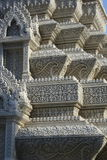 Beautiful and intricate stone carving in Pnomh Penh monastery Royalty Free Stock Images