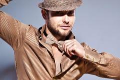 Beautiful, intriguing man Royalty Free Stock Image