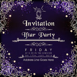 Beautiful invitation card for Ramadan Kareem Iftar Party celebration. Beautiful floral design decorated shiny invitation card for holy month of Muslim community
