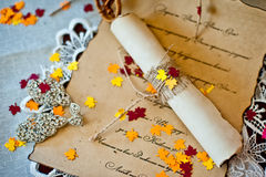 Beautiful invitation for a wedding. Beautiful and unusual invitation to the wedding royalty free stock photography