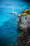 Beautiful Ionian Sea in Zakynthos Stock Image