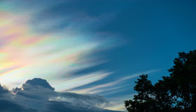 Beautiful iridescent cloud Royalty Free Stock Images