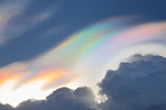 Beautiful iridescent cloud,Irisation Stock Image