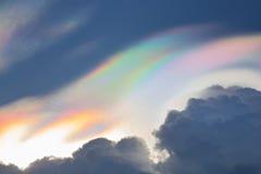 Beautiful iridescent cloud,Irisation Stock Image