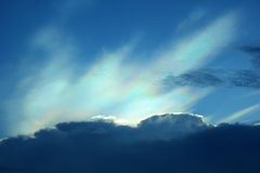 Beautiful iridescent colorful cloud Royalty Free Stock Photo