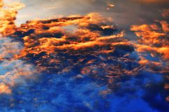 Beautiful iridescent sky royalty free stock photography