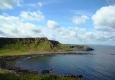Beautiful Irish coast blue sky and white clouds. Beautiful Irish coast, blue sky and white clouds,nice summer day royalty free stock photos