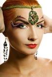 Beautiful irish girl. With creative make-up Stock Photo