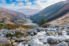 Beautiful irish landscape in Wicklow mountains Stock Photo
