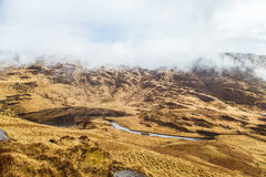 A beautiful irish mountain landscape with a lake in spring. Gleninchaquin park in Ireland stock photos