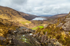 A beautiful irish mountain landscape with a lake in spring. Royalty Free Stock Photography