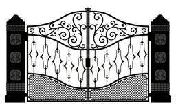 Beautiful iron ornament gates illustration eps 10 vector illustration