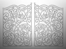 Beautiful iron ornament gates Stock Photography