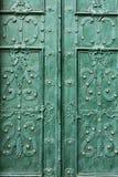 Beautiful iron pieces on the doors Stock Image