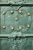 Beautiful iron pieces on the doors Stock Photos