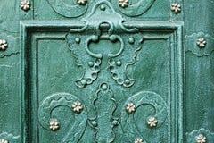 Beautiful iron pieces on the doors Royalty Free Stock Photos