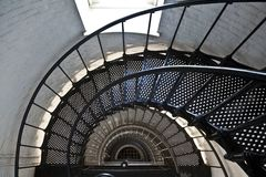 Beautiful iros stairs in lighthouse Stock Images